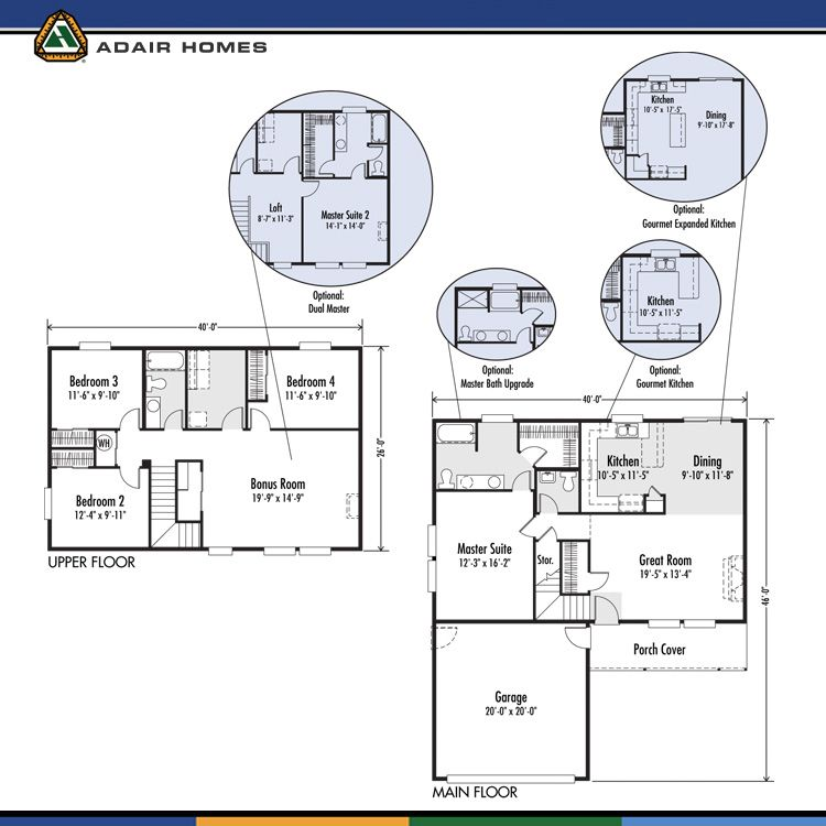 The gallatin adair homes central washington build on for Adair home plans