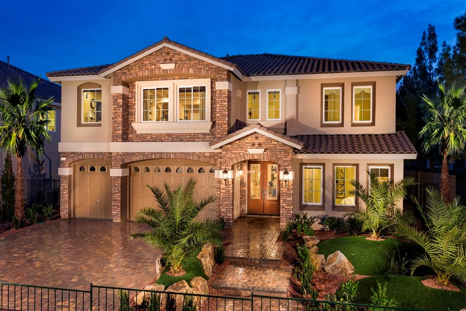 American west inverness new homes in las vegas nv by for New american home las vegas