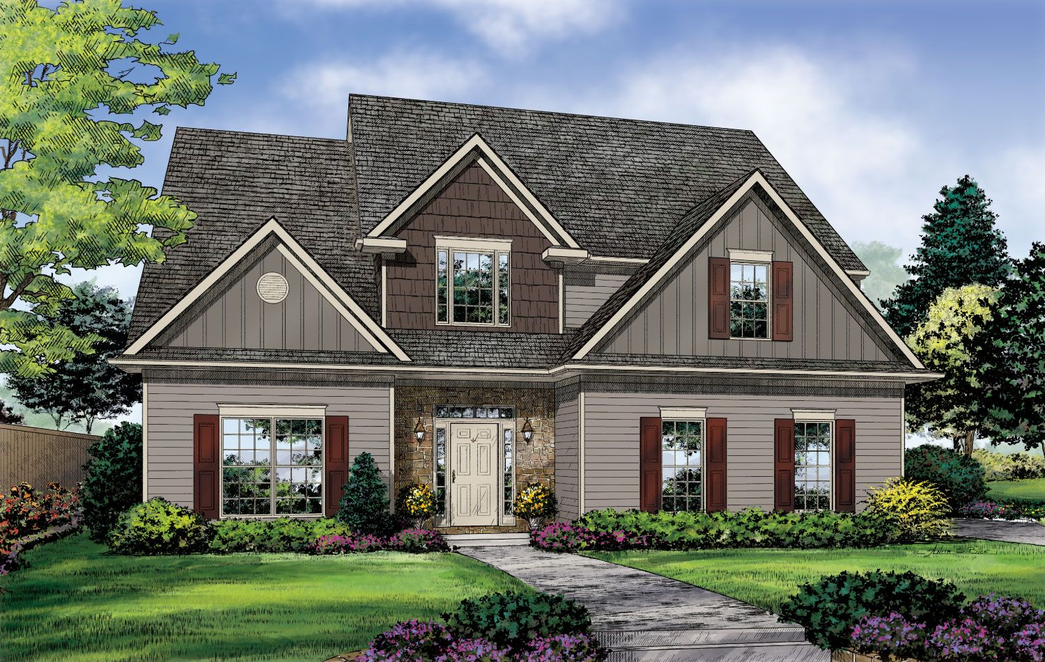 Single Family for Sale at Build On Your Lot - Jackson - Melbourne A 896 Centre St. Ridgeland, Mississippi 39157 United States