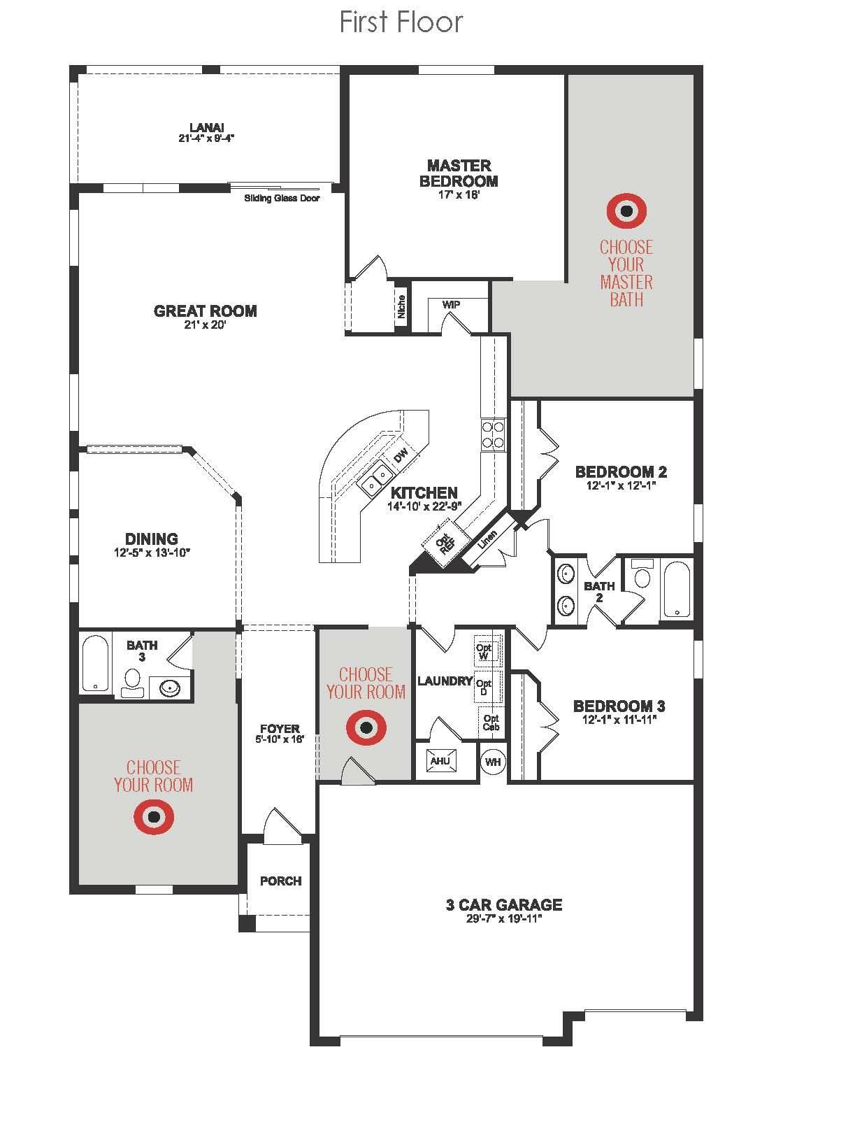 Beazer Homes Hamilton Floor Plan