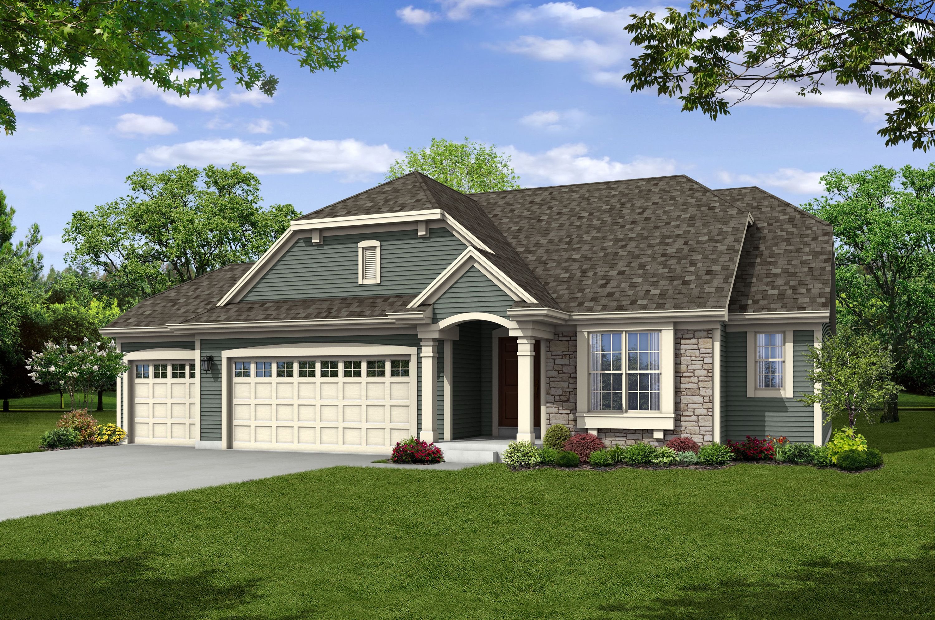 Single Family for Sale at The Lauren, Plan 1640 1807 Cloverview Street West Bend, Wisconsin 53095 United States