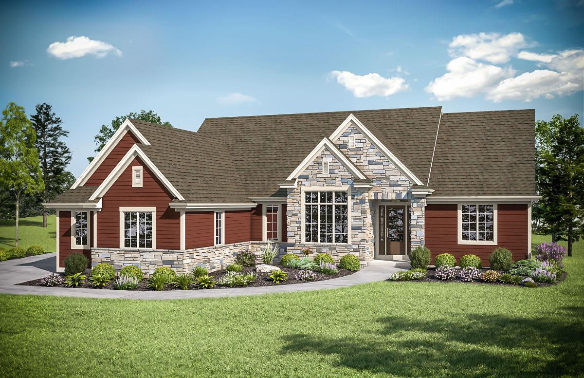 Single Family for Active at The Preston, Plan 2300 N66 W27991 Maple Street Sussex, Wisconsin 53089 United States