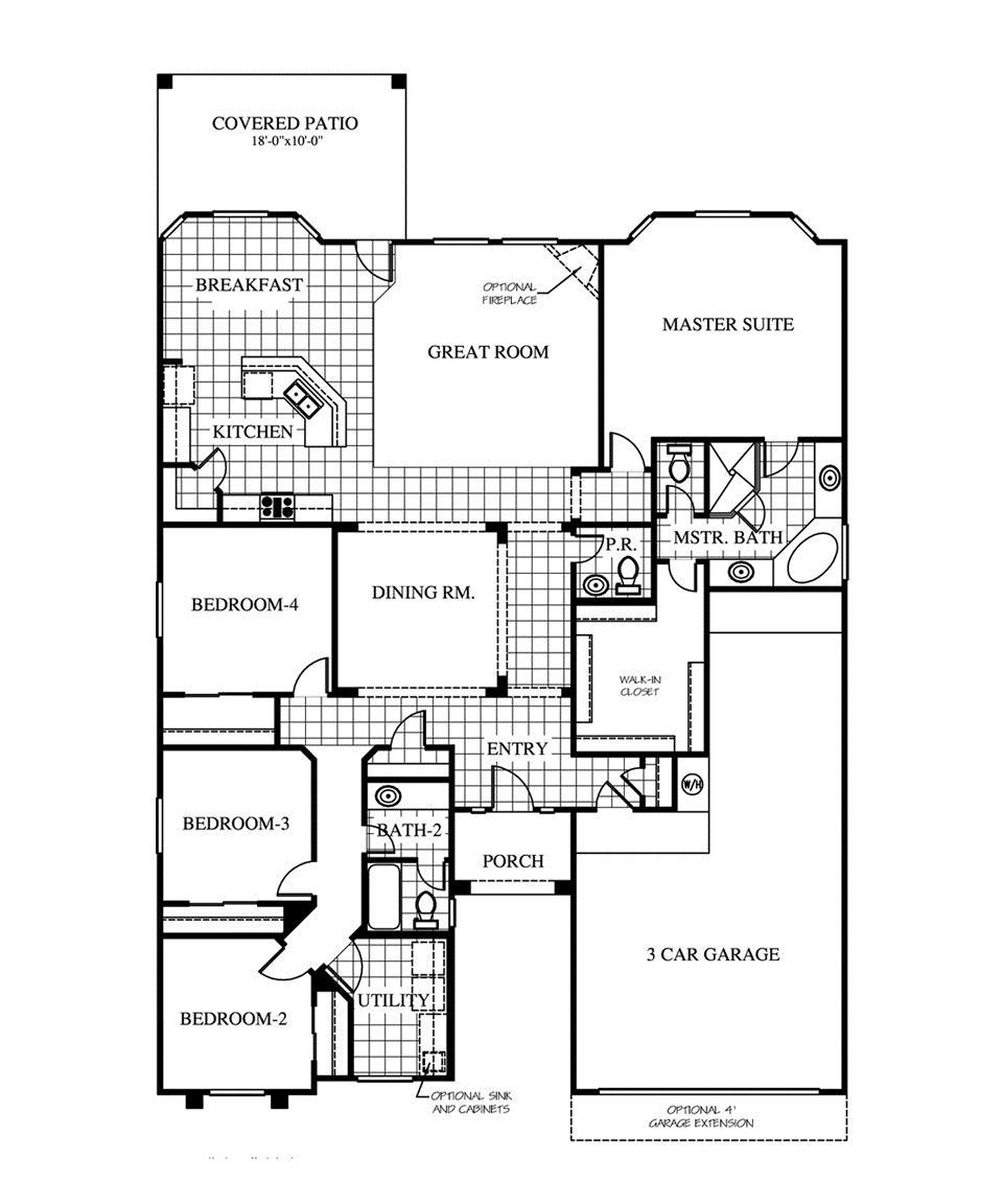 CareFree Homes Valley Creek Denmark1395673 El Paso TX New – Carefree Homes Floor Plans