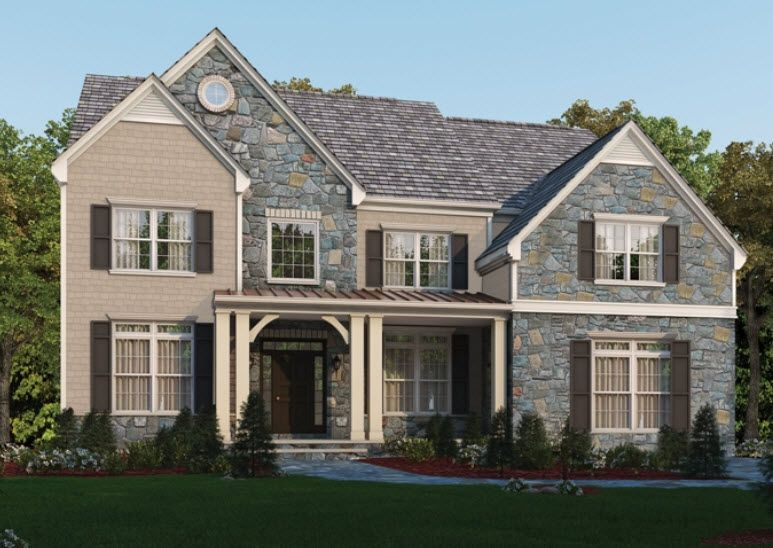 The oxford classic homes of maryland custom build on for Cost to build a house in maryland