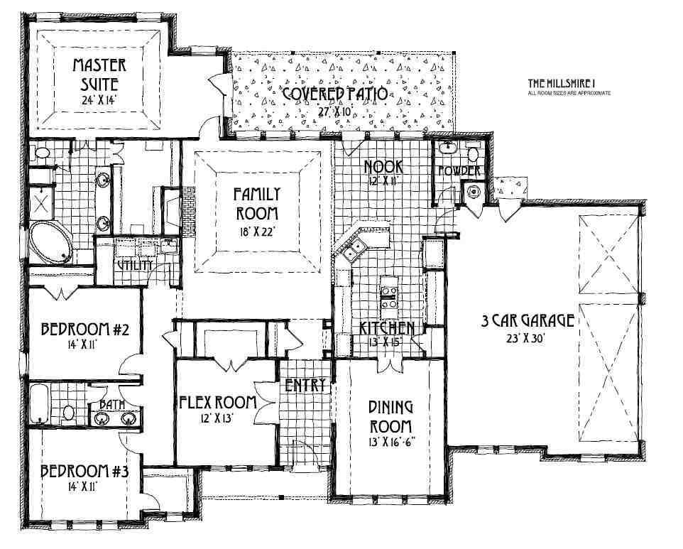 Hillshire I Floor Plan By Concept Builders Tulsa Ok