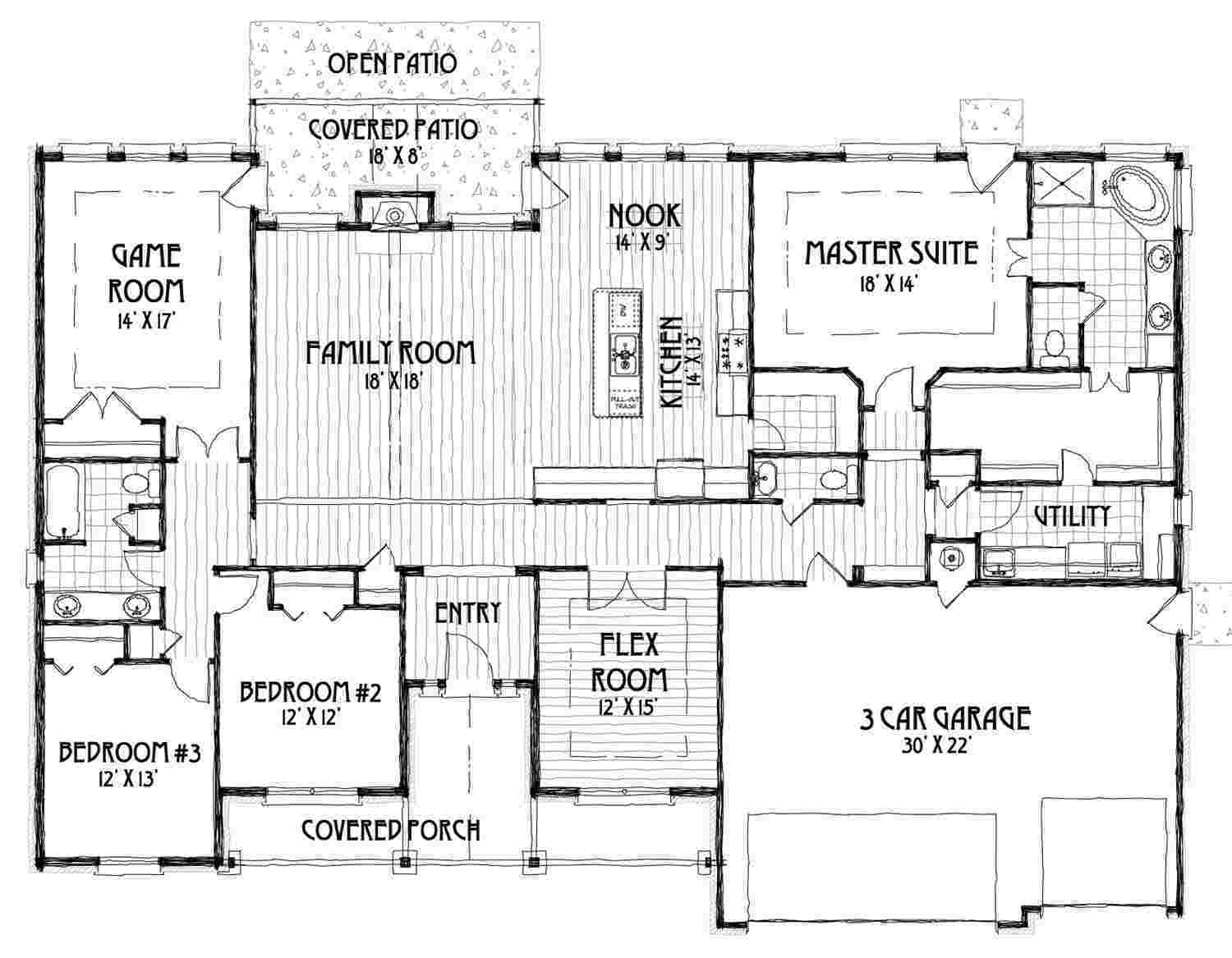 Martine Floor Plan Concept Builders Tulsa Ok