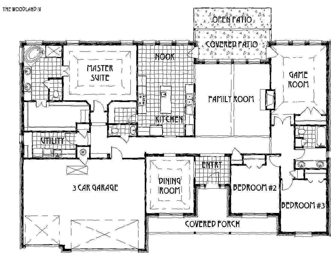 Woodland Iv Floor Plan By Concept Builders Tulsa Ok