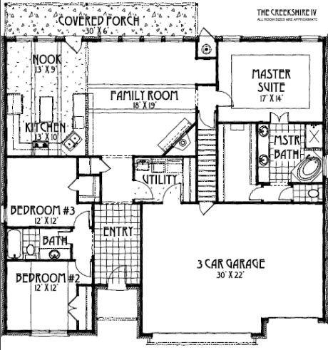Creekshire iv floor plan concept builders tulsa ok for Tulsa home builders floor plans