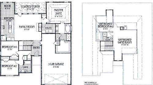 Stone Villa Floor Plan Concept Builders Tulsa Ok