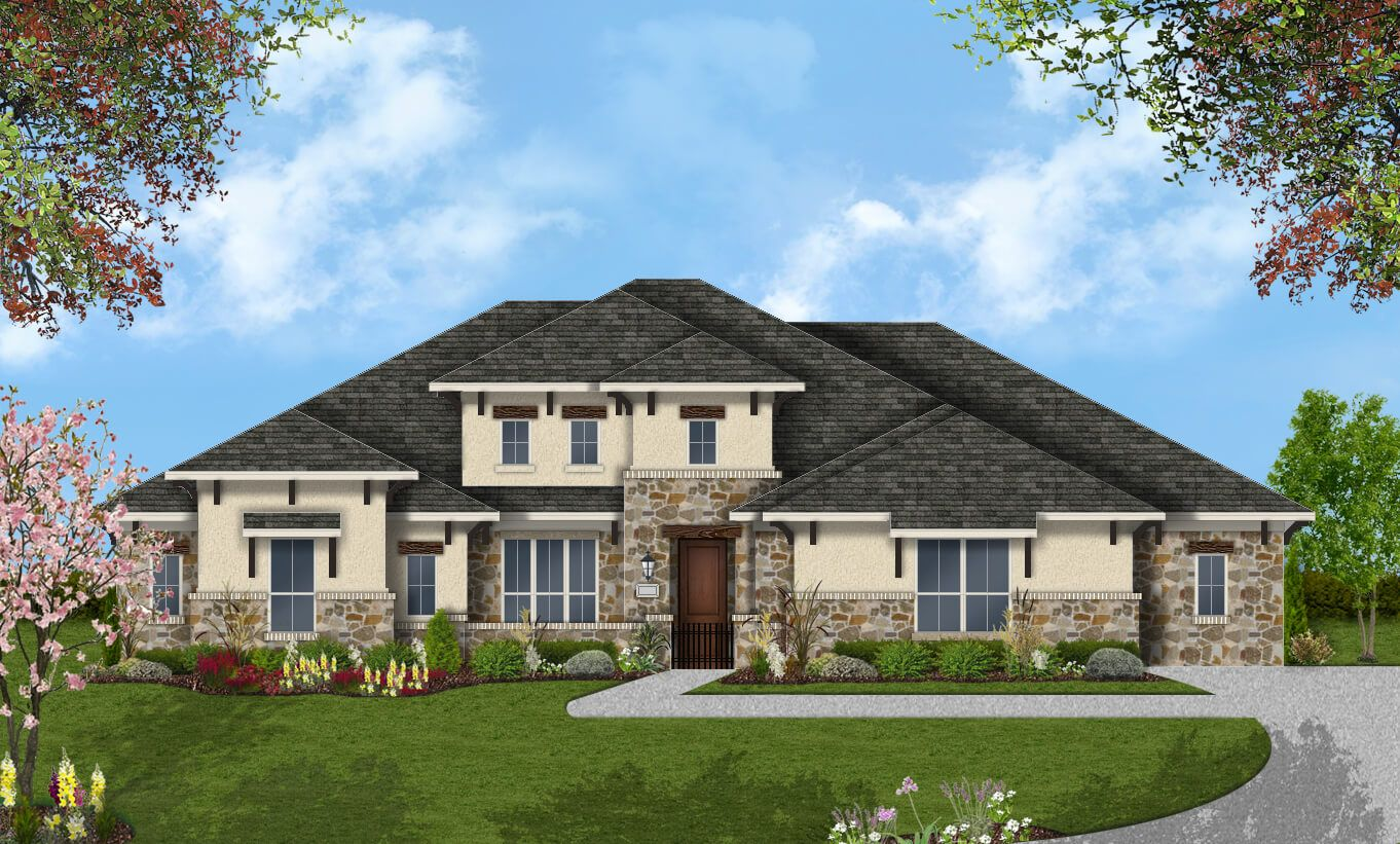 Single Family for Active at Rutherford West - Design 3454 2702 Nature View Lp Driftwood, Texas 78619 United States