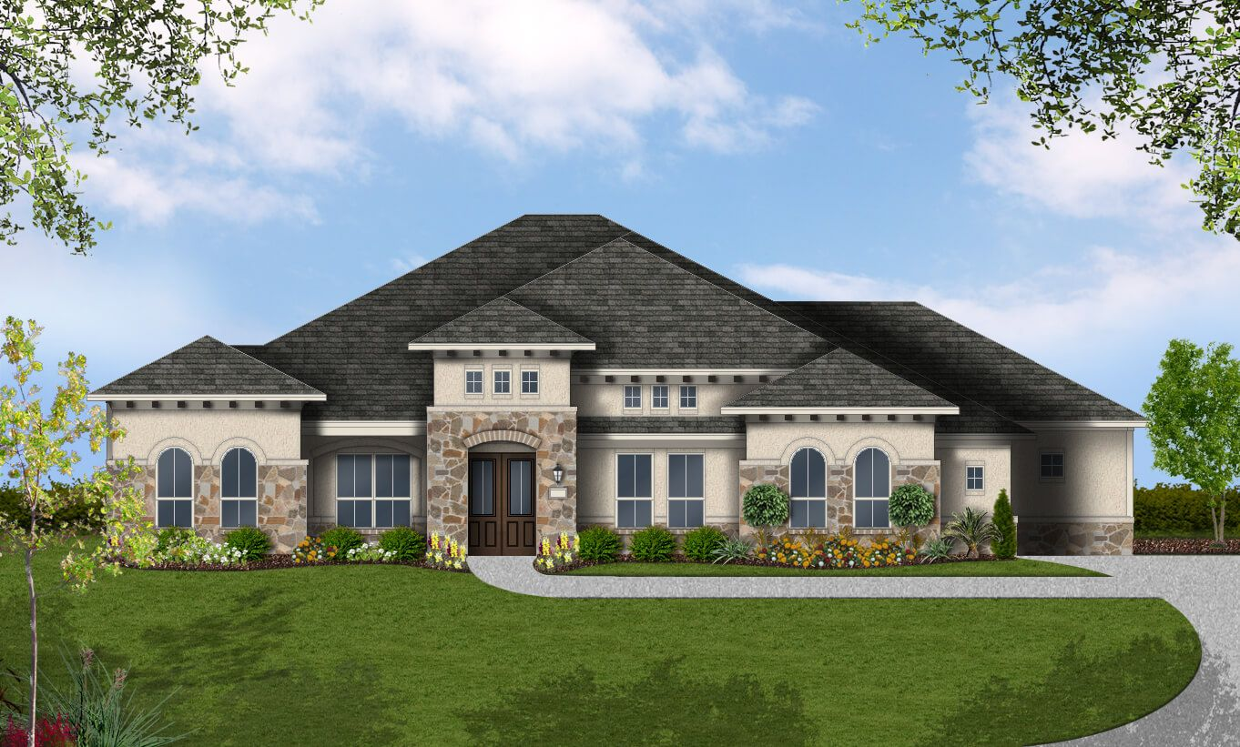 Single Family for Active at Rutherford West - Design 3719 2702 Nature View Lp Driftwood, Texas 78619 United States