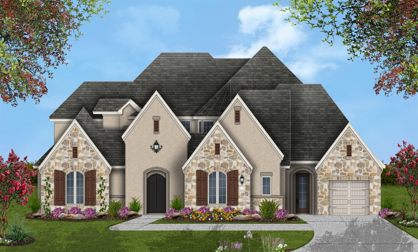 Single Family for Active at Pomona 75' - Design 8264 4602 Orchard Creek Ln Manvel, Texas 77578 United States