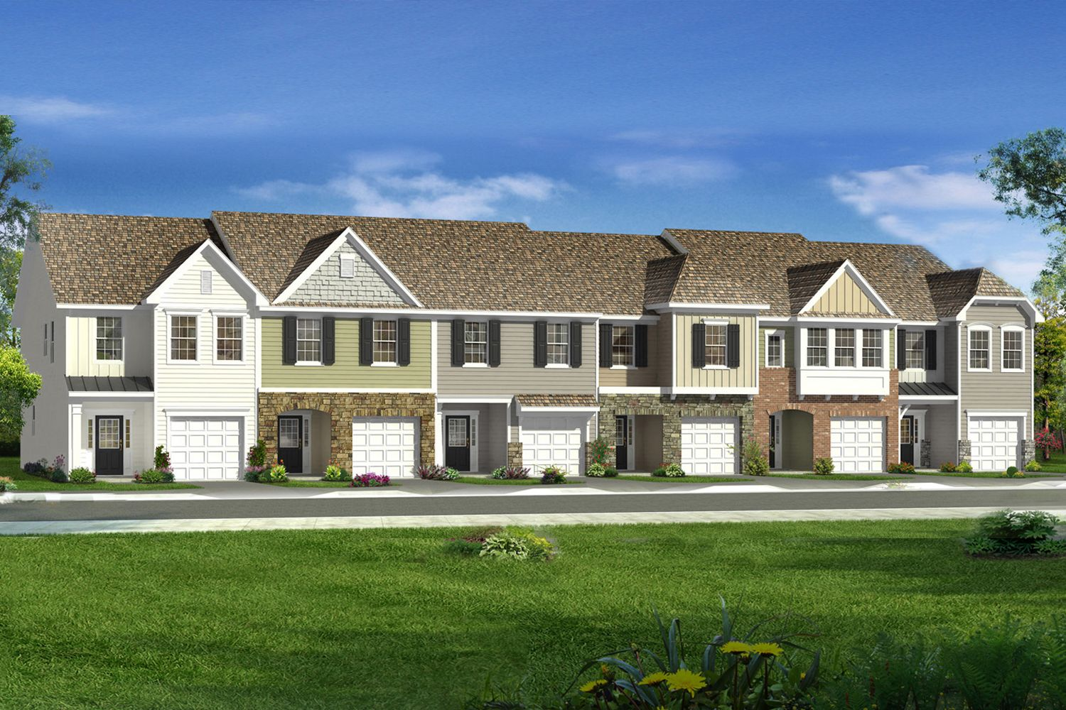 Litchfield stonegate townhomes in wake forest for Town home plans
