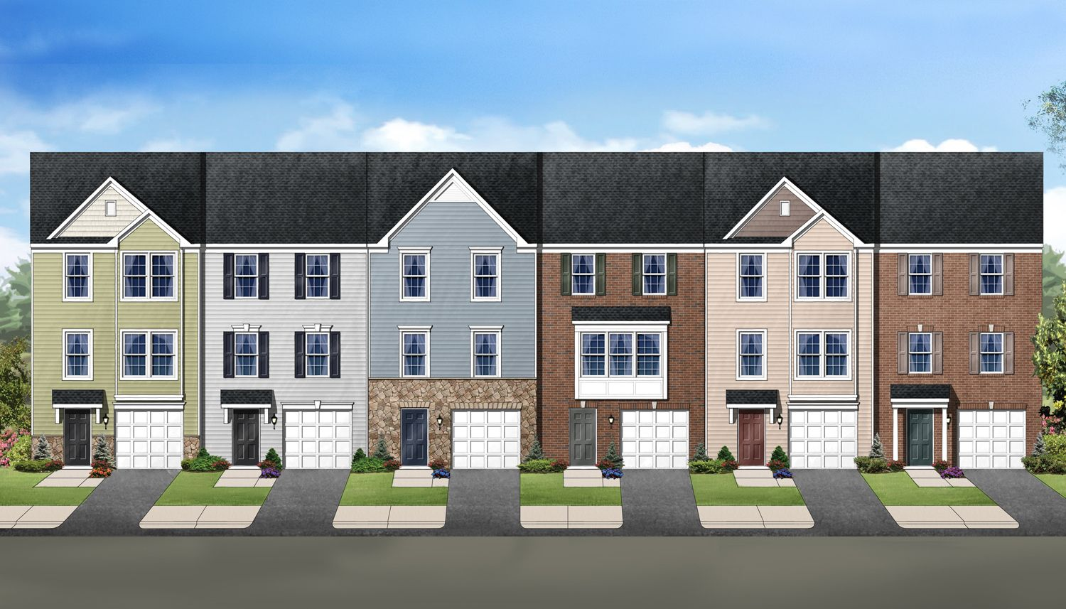 Single Family for Sale at Canterbury Woods - Townhomes - York Ii Garage 302 Kingsbury Court Fairmont, West Virginia 26554 United States