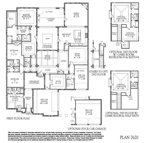 Darling homes newman village renaissance 7620 plan for Renaissance homes floor plans