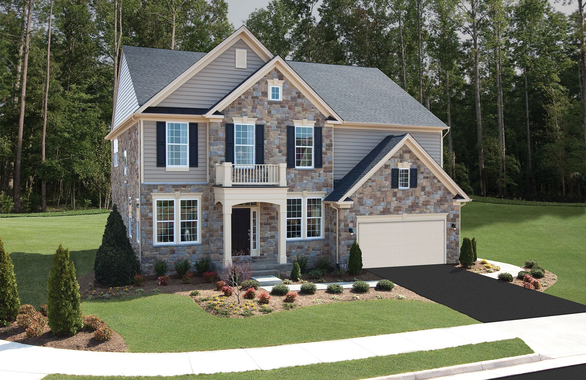 Colonial forge single family homes new homes in stafford Colonial home builders