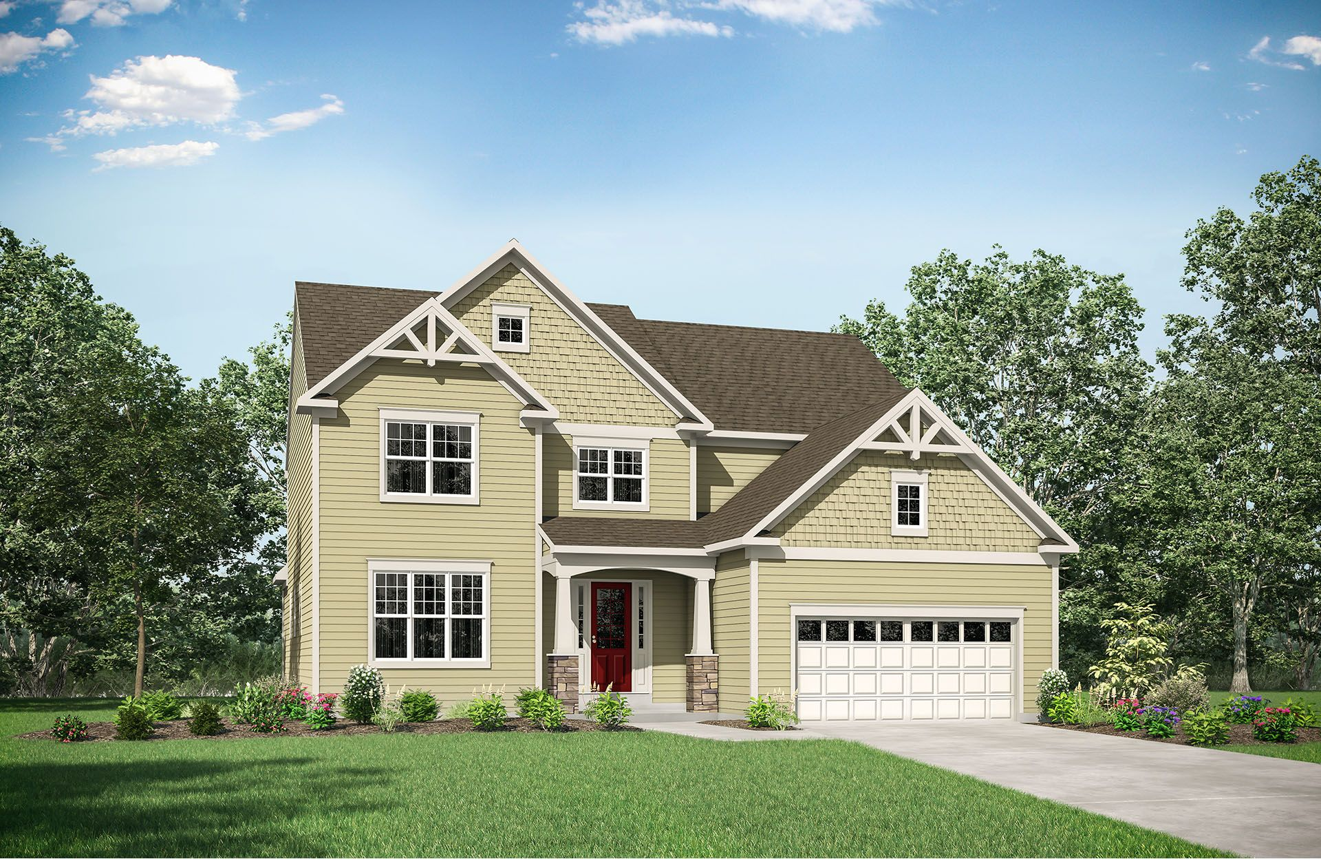 Single Family for Active at Glad Hill Estates - Rowan 3600 Donna Court Monrovia, Maryland 21770 United States