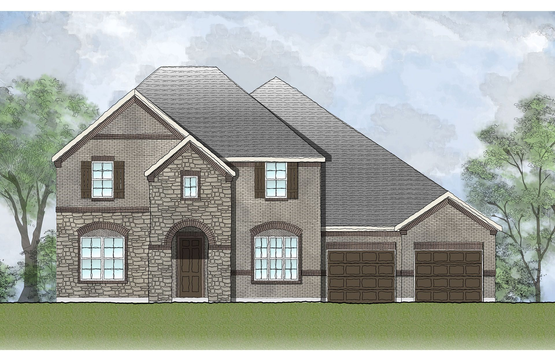 Single Family for Active at West Parke - Tanner 1501 Parke Bluff Bend Cedar Park, Texas 78613 United States