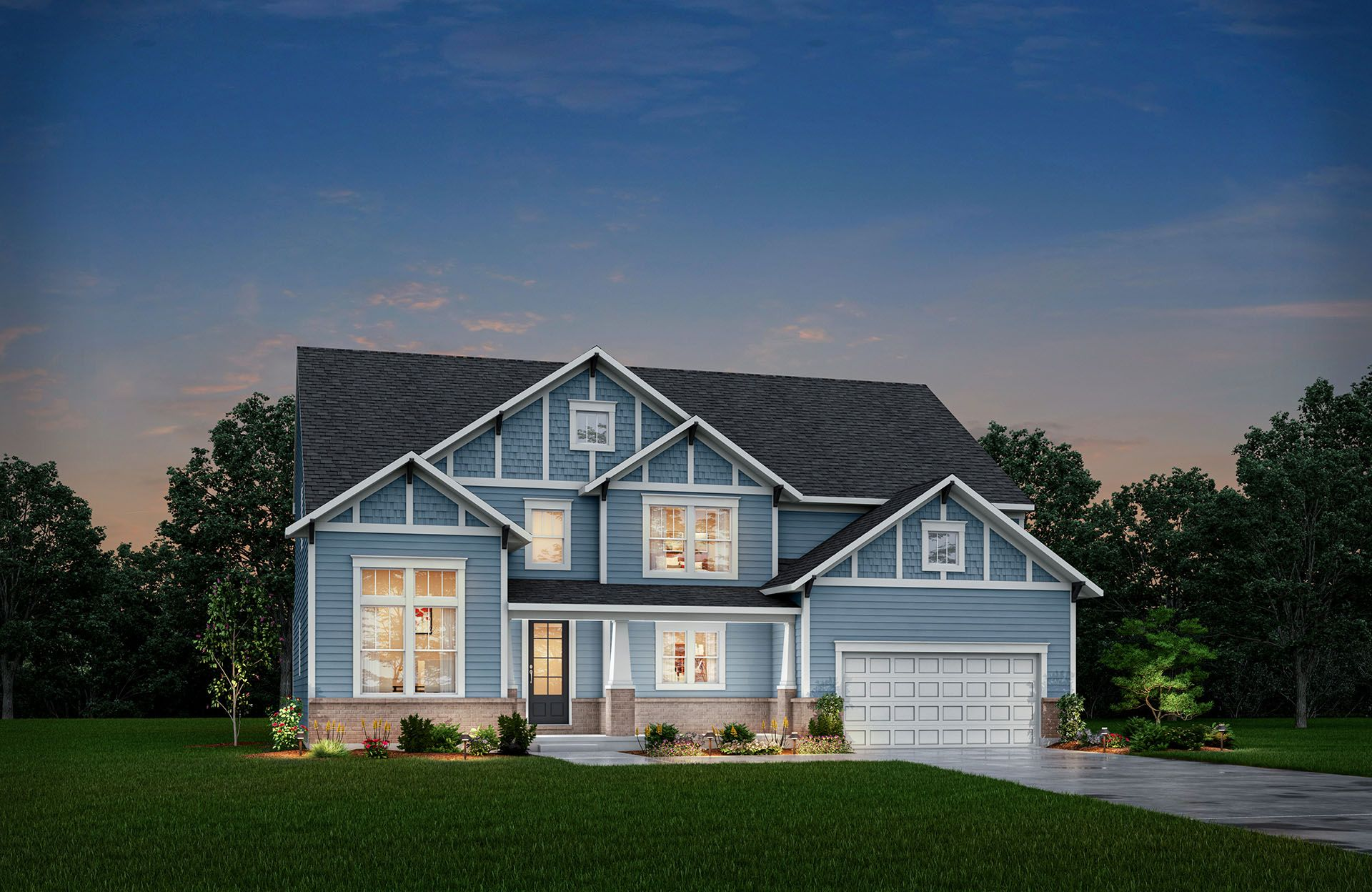 Single Family for Active at Oak Ridge At Tipton Lakes - Winfield 4950 Carr Hill Road Columbus, Indiana 47201 United States