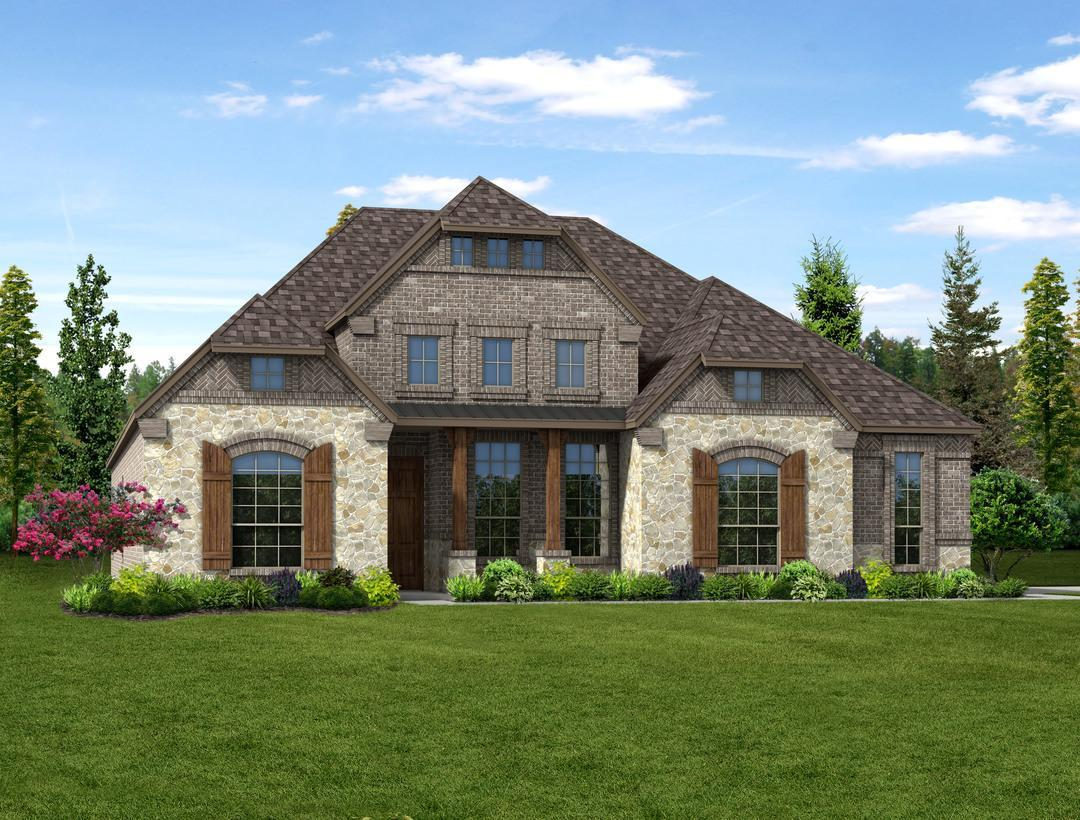 Dunhill homes valencia on the lake scarlett 5051 side for Valencia home