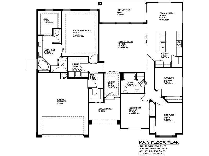 Ence homes redwood estates redwood estates plan 2010 for Utah floor plans