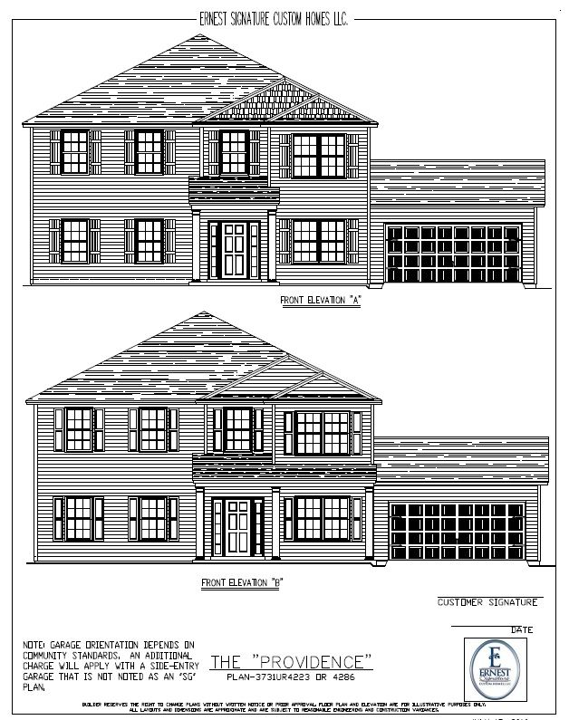 Ernest signature custom homes dunham marsh providence Richmond signature homes