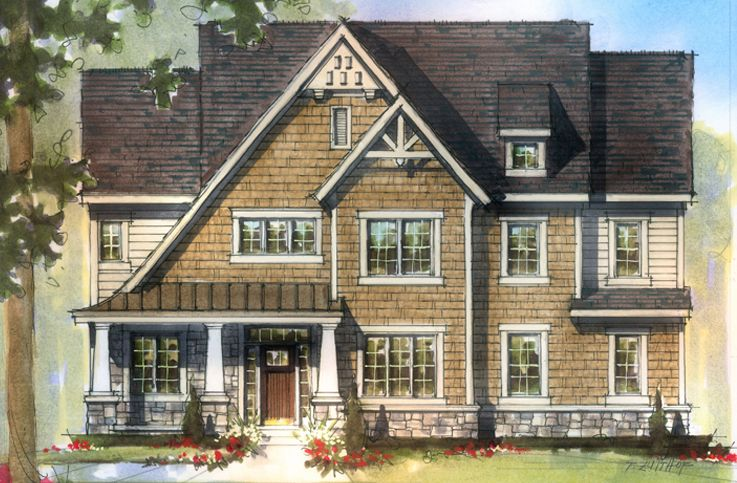 Single Family for Active at Flat Fork - The Adirondack 10910 Edgewood Drive Fortville, Indiana 46040 United States