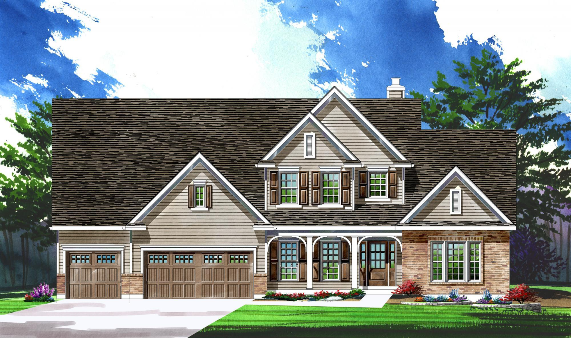 Single Family for Active at Warwick On White Road - Parkview Ii - Warwick 1168 Whetherly Landing Chesterfield, Missouri 63017 United States