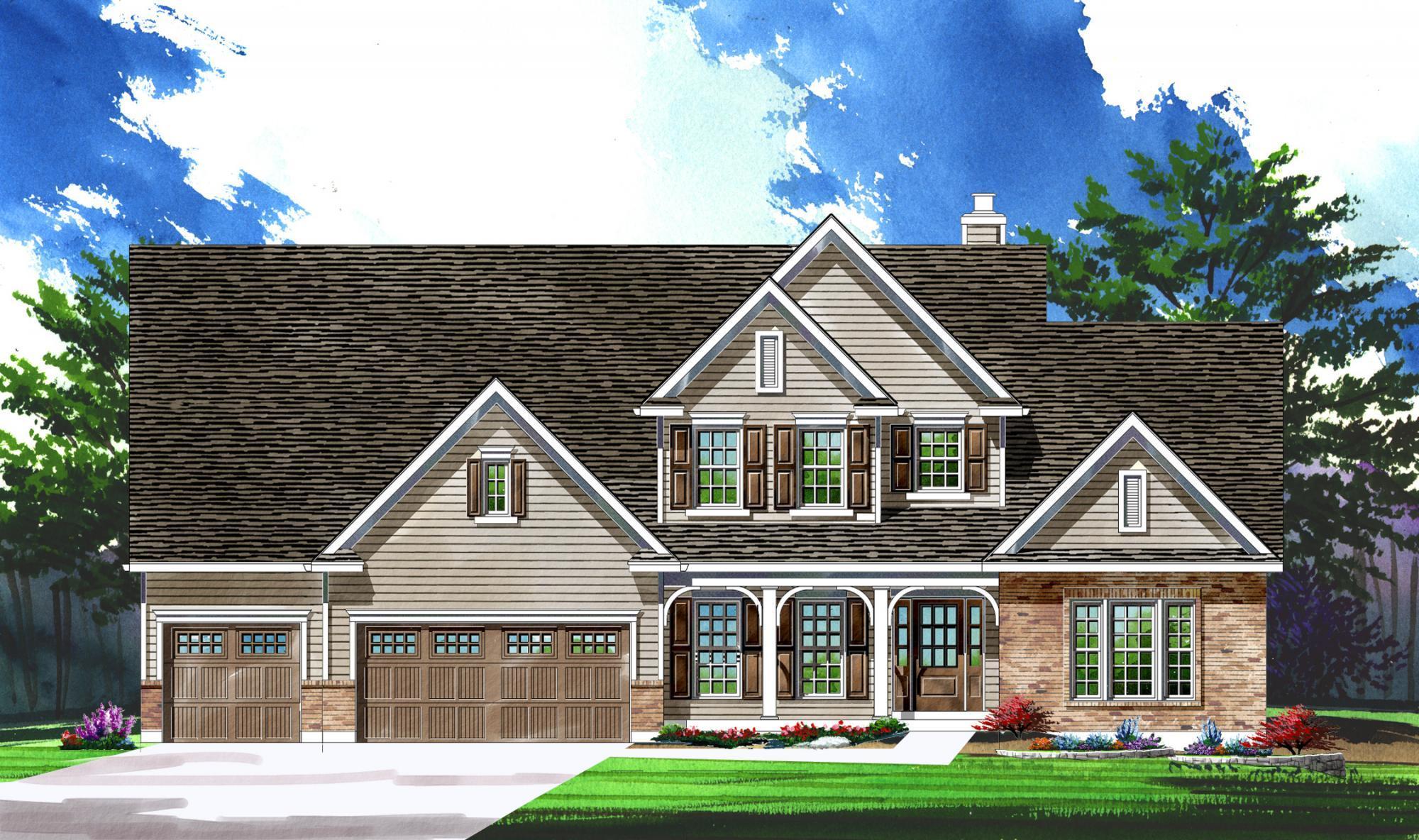 单亲家庭 为 销售 在 Warwick On White Road - Parkview Ii - Warwick 1168 Whetherly Landing Chesterfield, Missouri 63017 United States