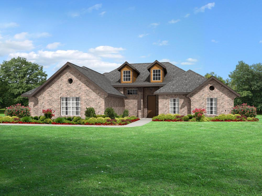 The huntington 3cs by 4 corners custom homes plan to be for Norman ok home builders