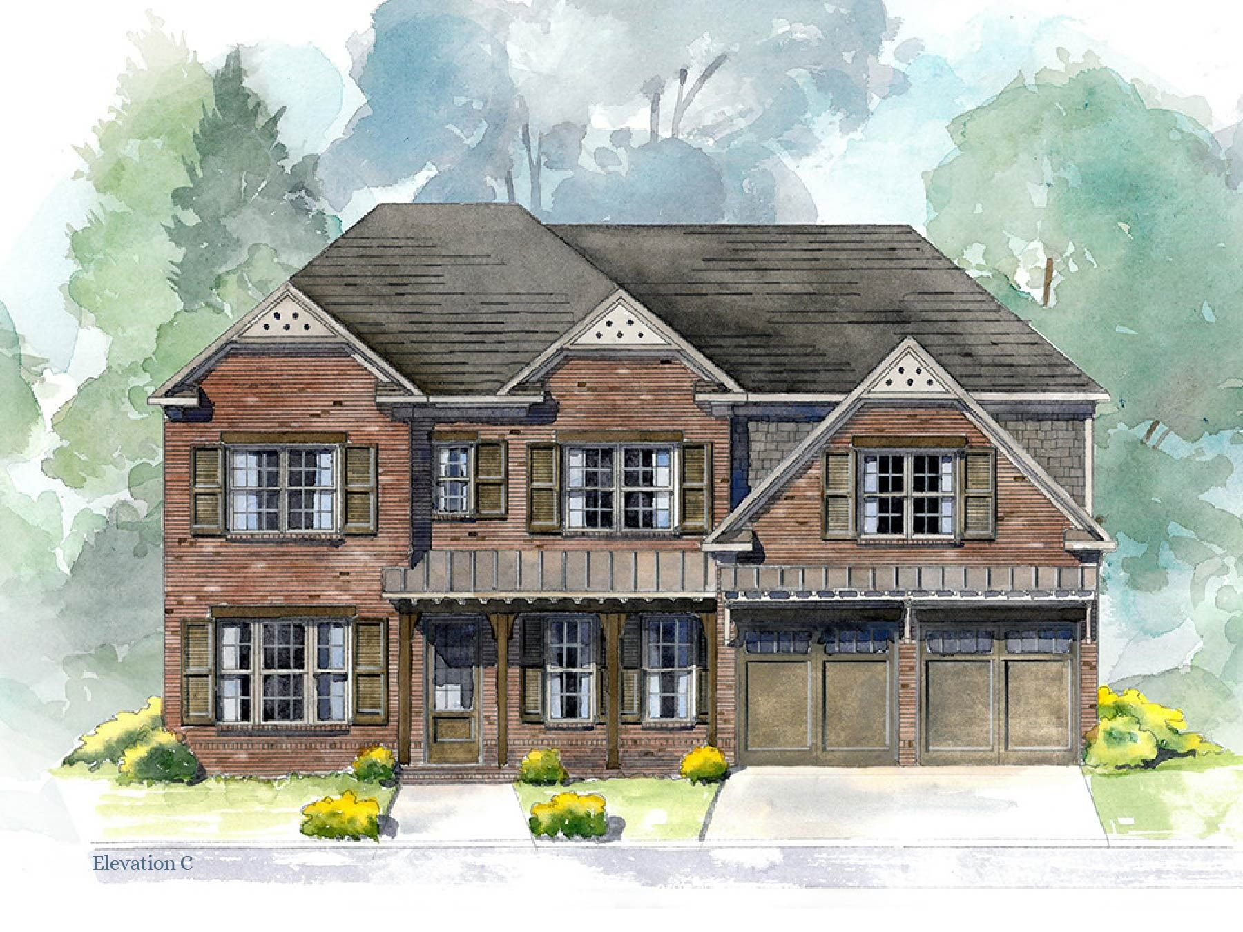 Famille unique pour l Vente à Edgewater - Briarcliff Ii 4300 Hickory Road Holly Springs, Georgia 30115 United States
