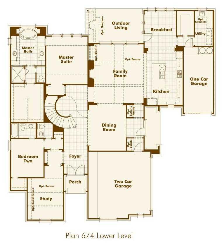 Highland homes firethorne firethorne 80s plan 262 for Floor plans for homes in texas