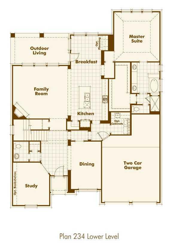 Highland homes stillwater ranch plan 234 1330359 san House plans san antonio