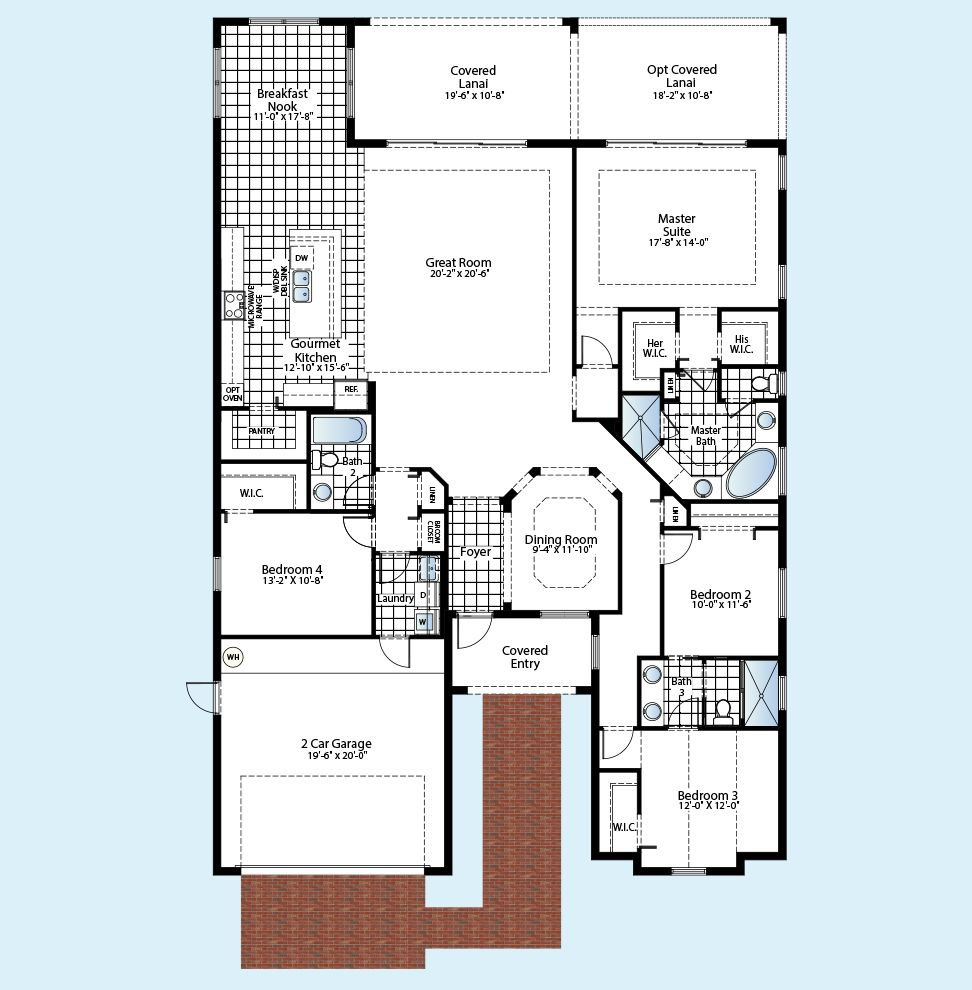 1195208 on Cape Coral Fl Model Homes Floor Plans