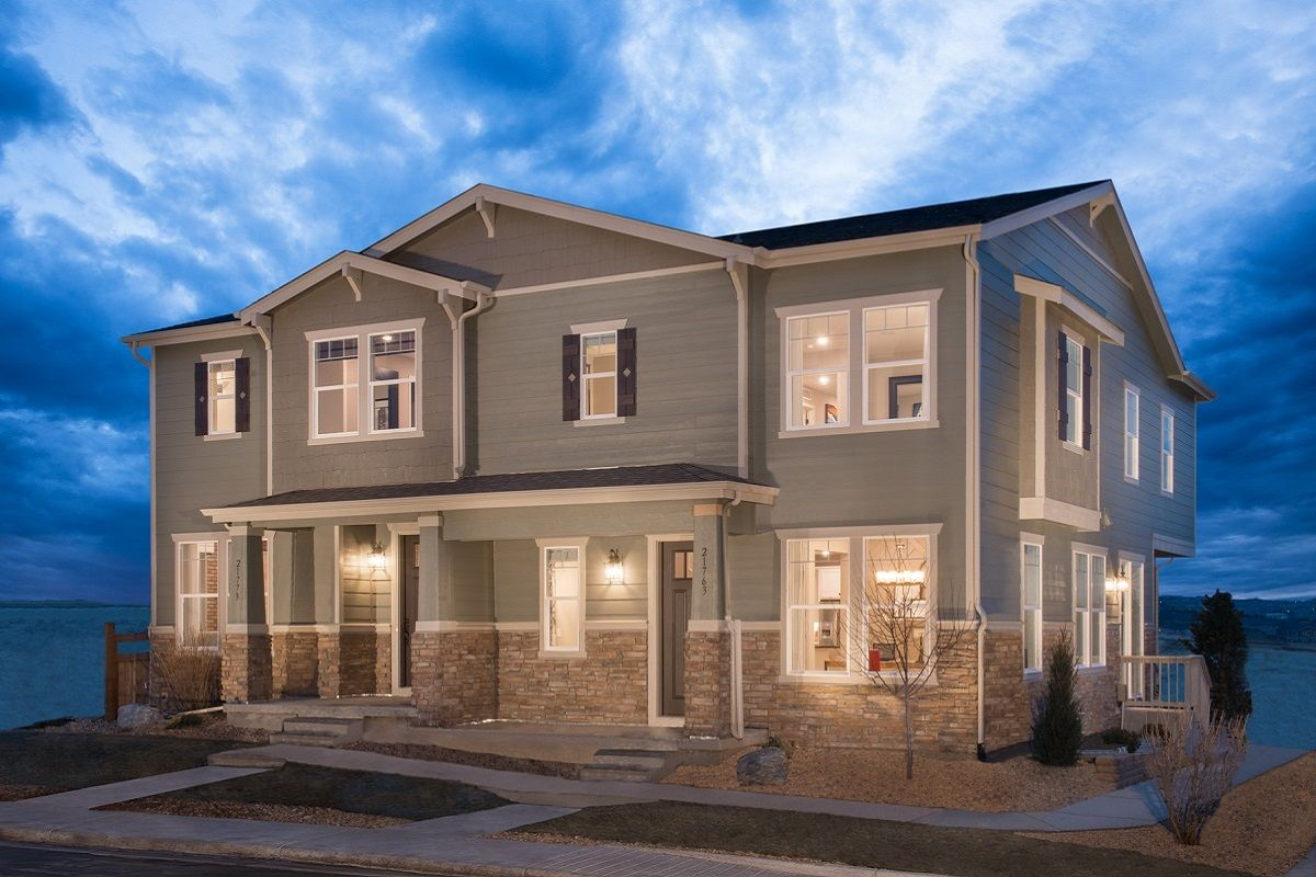 The villas at copperleaf new homes in aurora co by kb home for House aurora