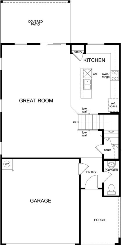 Kb home oakmore reserve plan 2010 1271015 tucson az for Tucson home builders floor plans