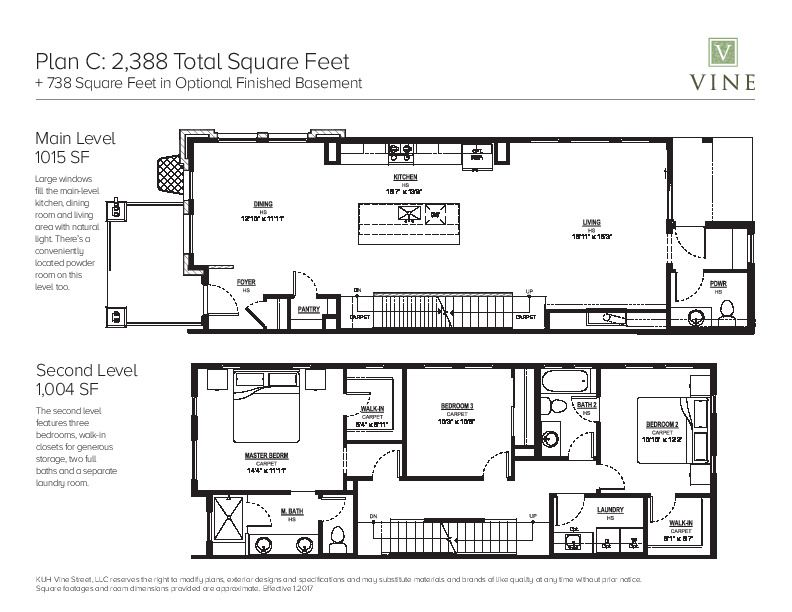 Additional Photo For Property Listing At Vine   Plan C 1396 Vine Street  Denver, Colorado