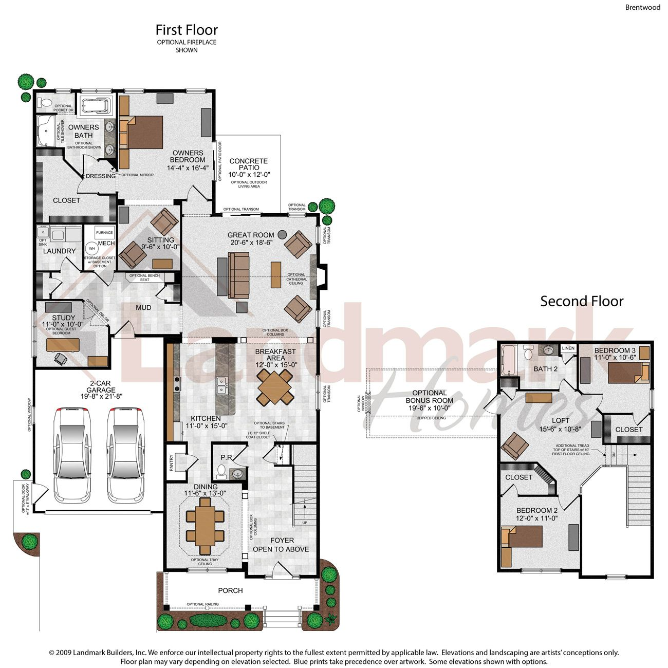 Landmark homes pa floor plans for Landmark home plans