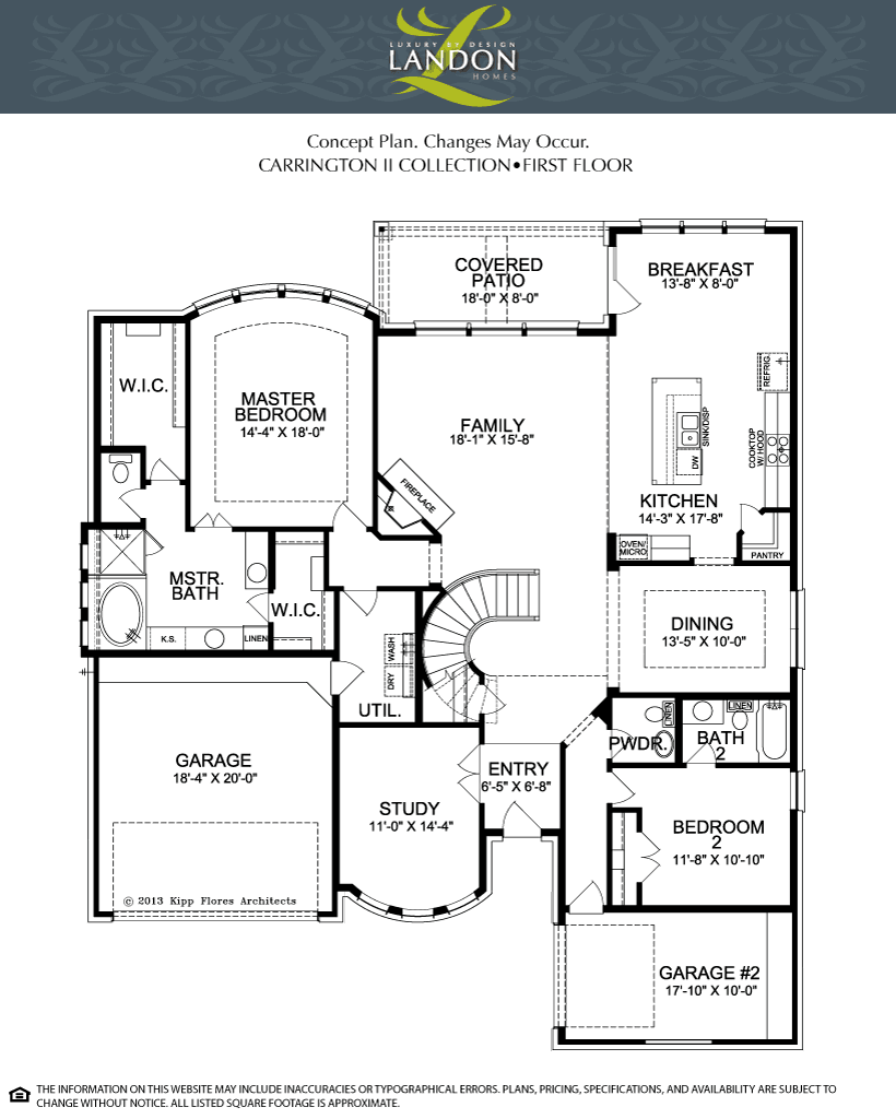 Landon homes carrington ii concept plan lexington for Carrington plan
