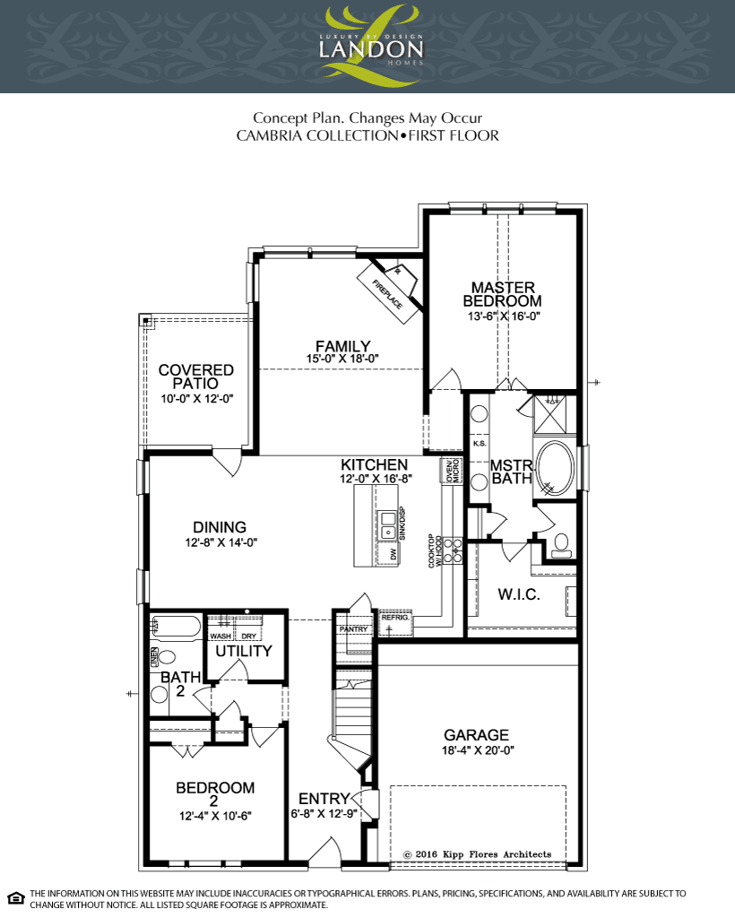 Landon homes cambria collection the enclave at lakeview for Landon homes floor plans