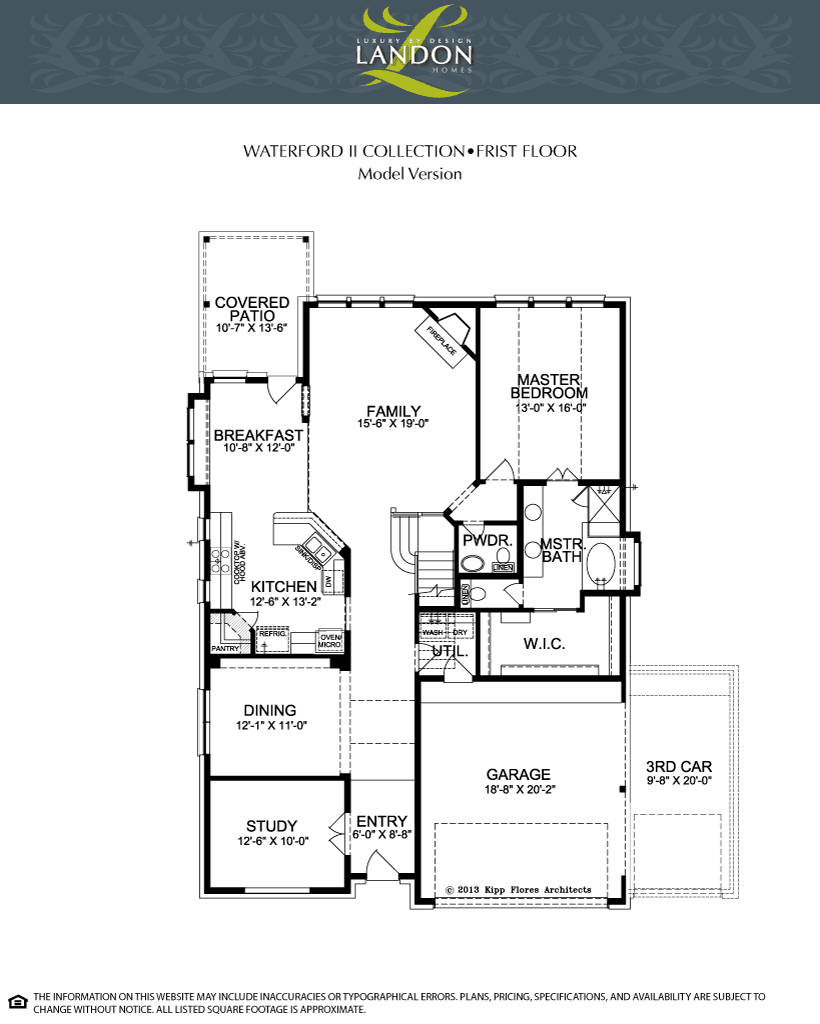 Landon homes waterford ii collection the dominion at for Landon homes floor plans