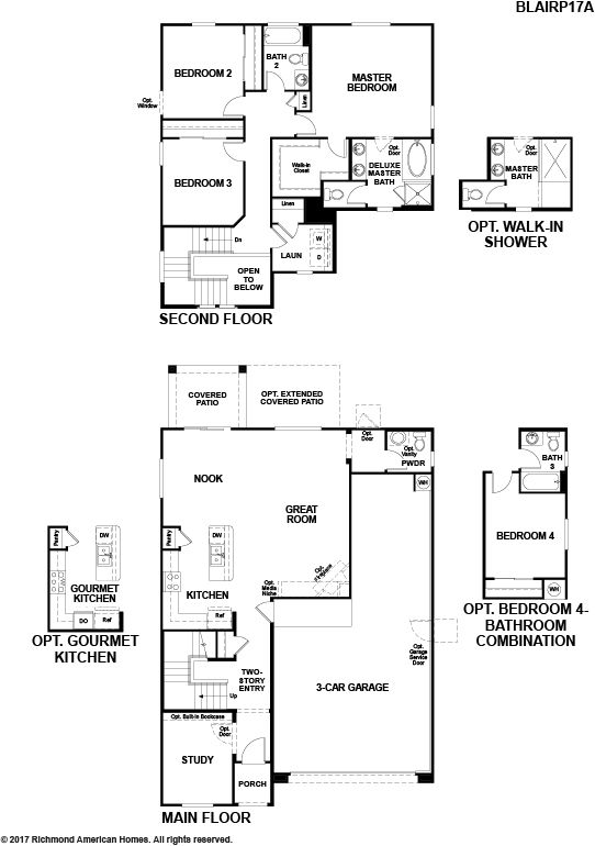Richmond american homes floor plans arizona for Tucson home builders floor plans