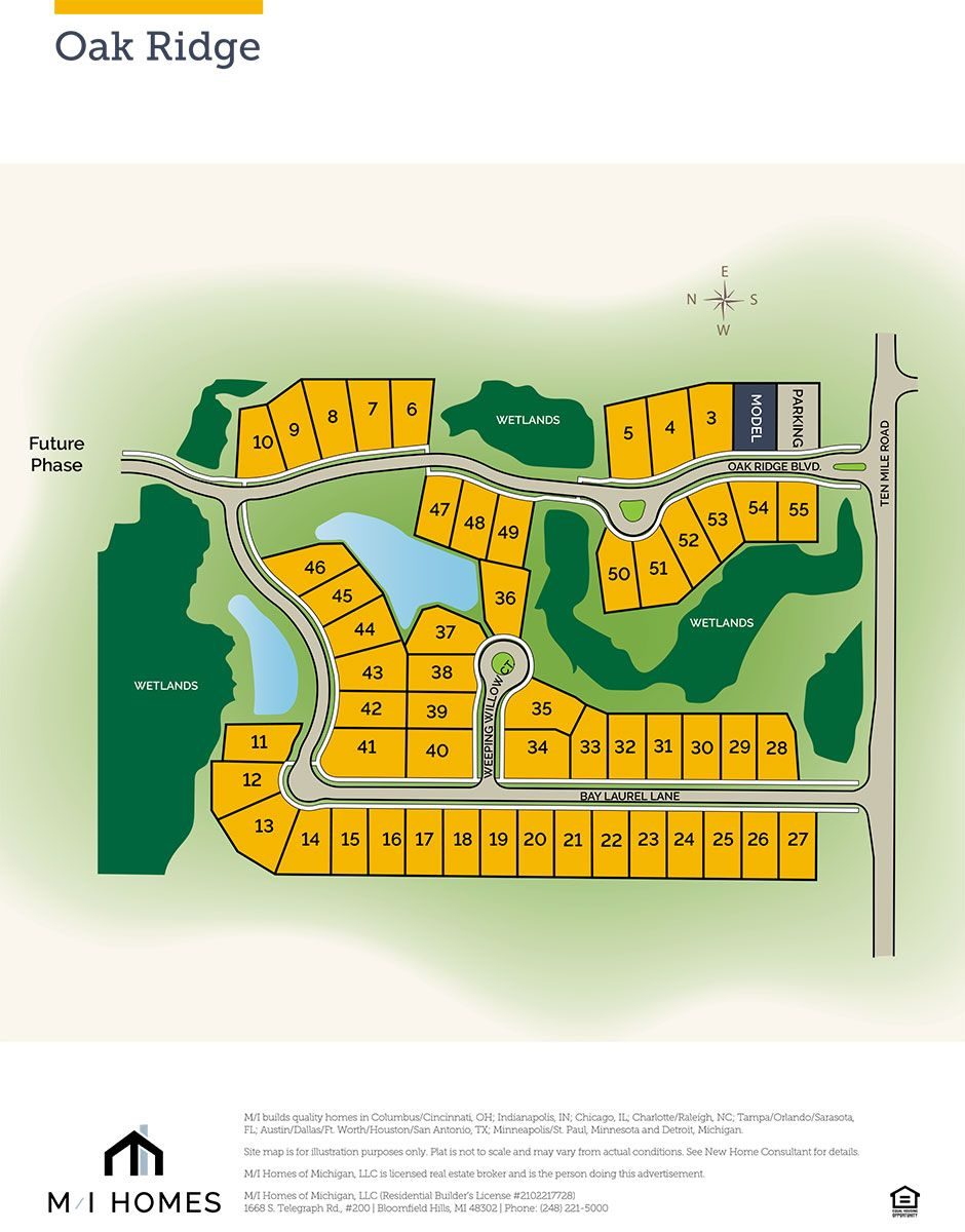 Single Family for Active at Ashford 24246 Oak Ridge Boulevard South Lyon, Michigan 48178 United States