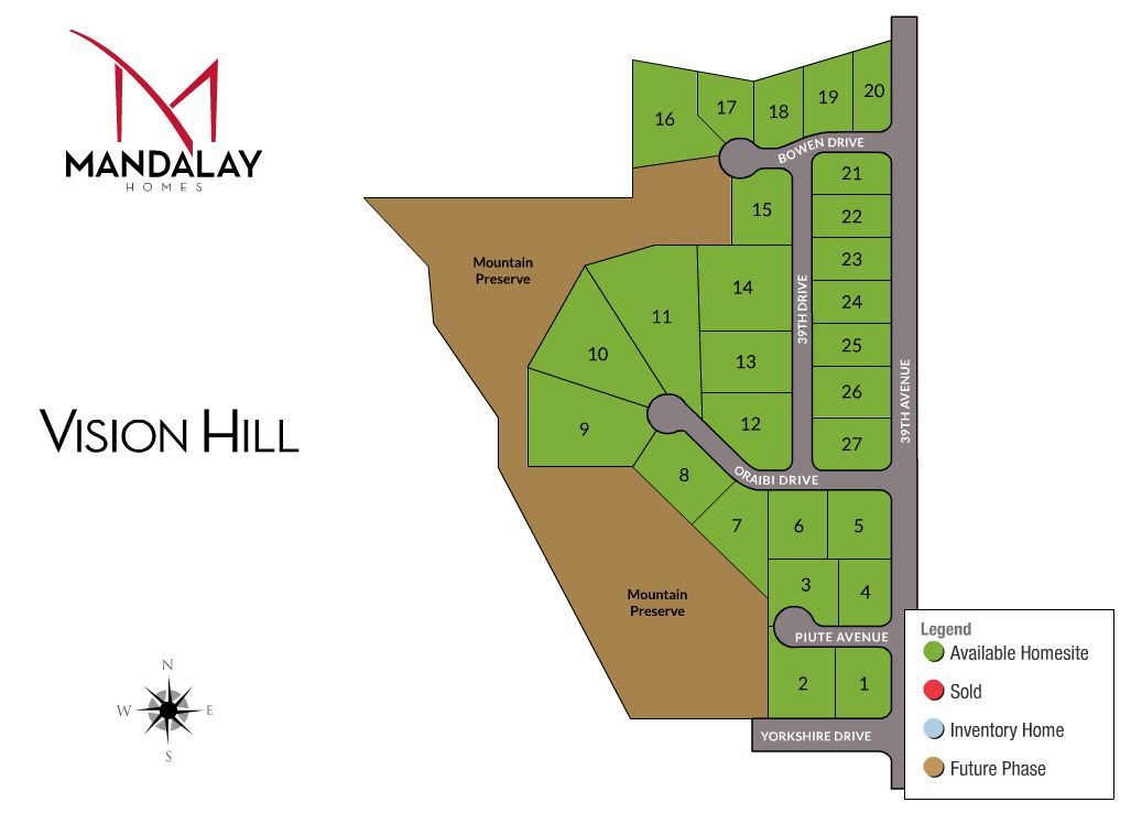 Vision hill new homes in glendale az by mandalay homes for Vision homes