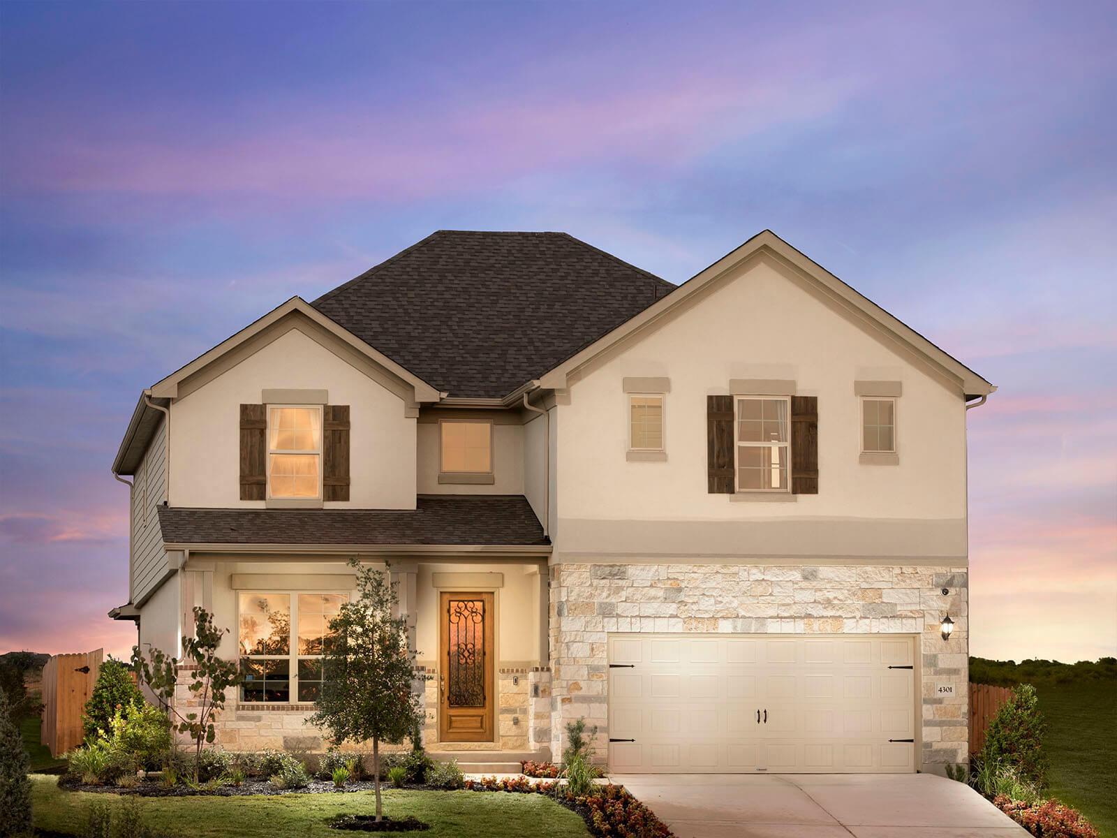 Vista Vera new homes in Georgetown TX by Meritage Homes