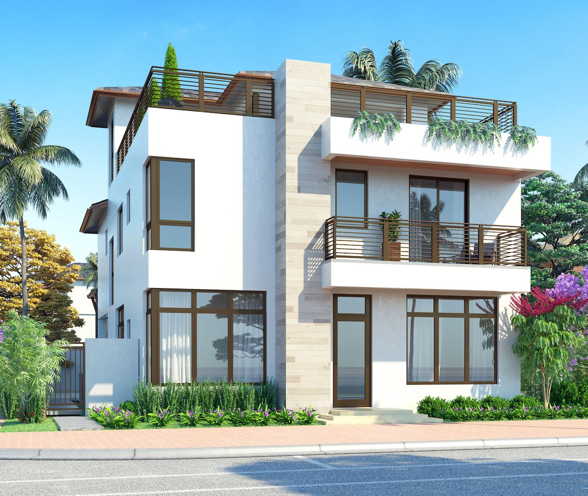 Single Family for Sale at Canarias At Downtown Doral - Model B - Three Story 8333 Nw 53rd Street Suite #102 Miami, Florida 33166 United States