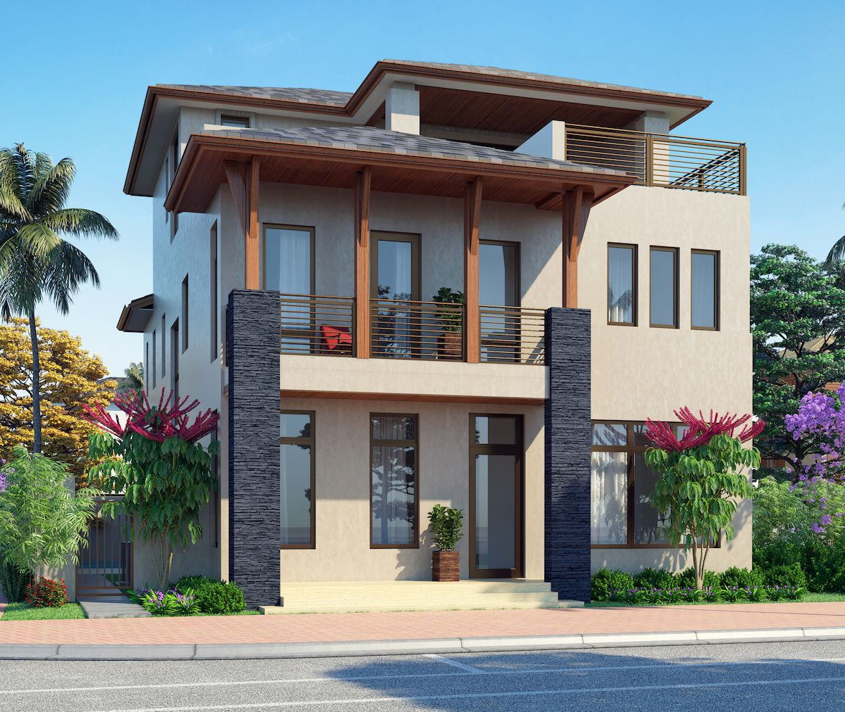 Single Family for Sale at Canarias At Downtown Doral - Model C - Three Story 8333 Nw 53rd Street Suite #102 Miami, Florida 33166 United States