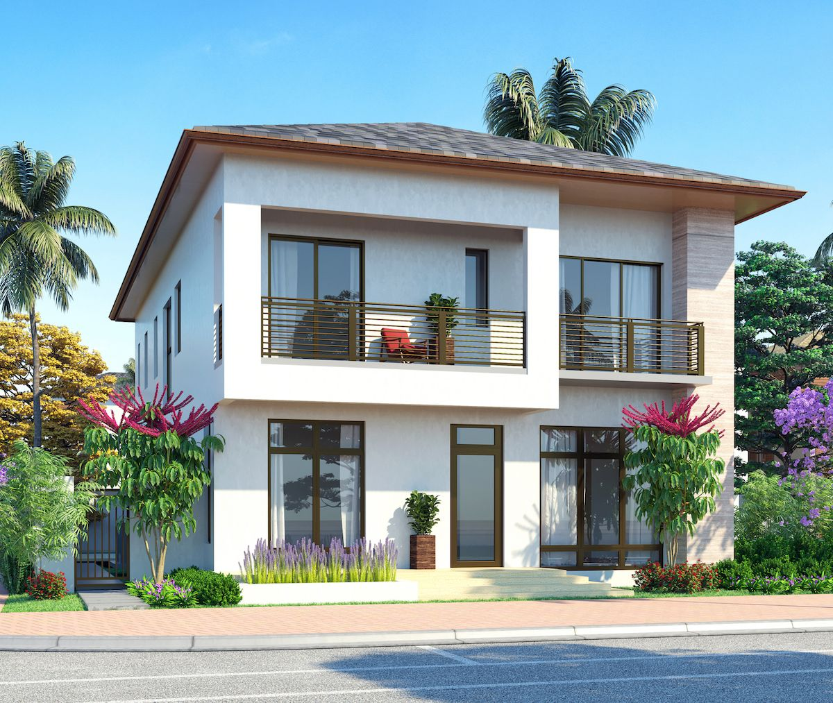 Cc homes canarias at downtown doral model c two story for 2 story homes for sale