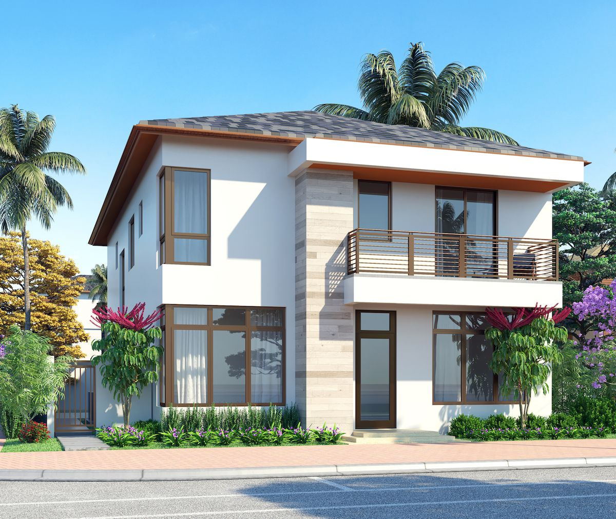 Single Family for Sale at Canarias At Downtown Doral - Model B - Two Story 8333 Nw 53rd Street Suite #102 Miami, Florida 33166 United States