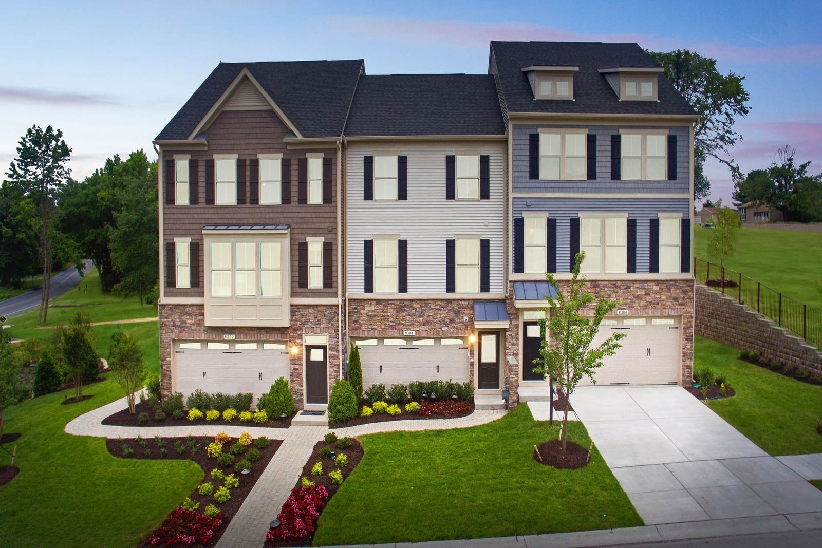 'Unique la famille' building or community at 'Pondview Townhomes 8302 Pondview Drive Millersville, Maryland 21108 United States'